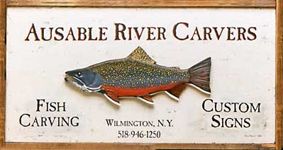 Ausable River Carvers - custom, hand-carved signs